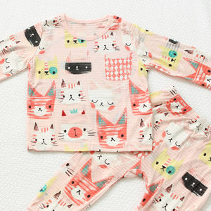 Cats Pink Children's Long Sleeves Pyjamas