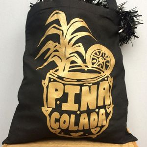 Pina Colada Gold Beach Bag - bags
