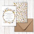 Golden Wildlife Invitations