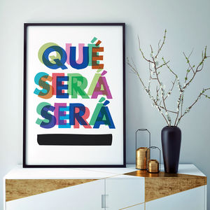 'Que Sera Sera' Fine Art Giclée Print - graphic art prints
