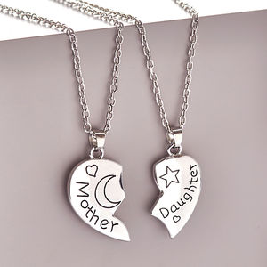 Mother Daughter Necklace Set - gifts from younger children