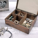 Ivory Lining Inside Personalised Wooden Jewellery Box