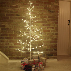 White Twig LED Tree - christmas trees