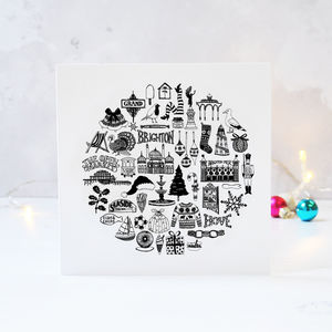 Illustrated Brighton Christmas Card