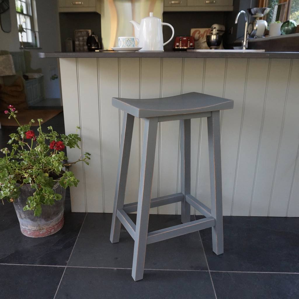 Scandi stool hand painted in any colour by rectory blue for Scandi stuhl