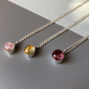 Mini Smashed Gemstone Necklace