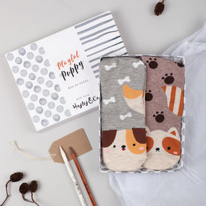 Playful Puppy Box Of Socks - best gifts for girls