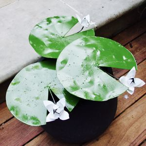 Lilypad With Flower Garden Sculpture - art & decorations