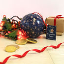 Navy Gingerbread Wonderland Bauble Of Chocolate Coins