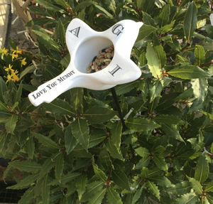 Ceramic Bird Feeder Can Be Personalised - birds & wildlife