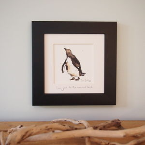 Penguin Print 'Love You To The Moon And Back' - canvas prints & art