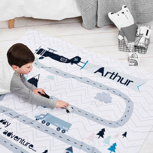 Children's Personalised Adventure Blanket - free delivery gifts to mainland UK