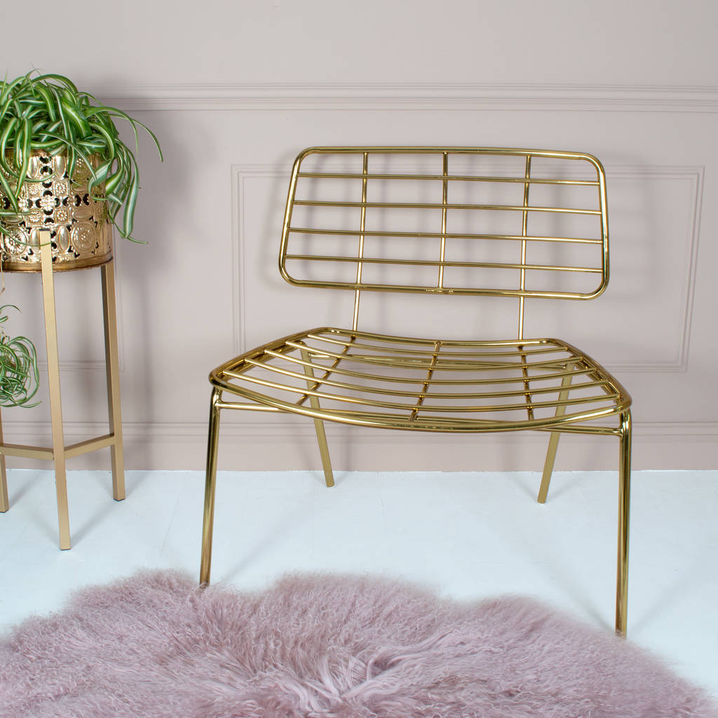Gold Mesh Lounge Chair