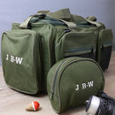 Personalised Fishing Holdall And Reel Case