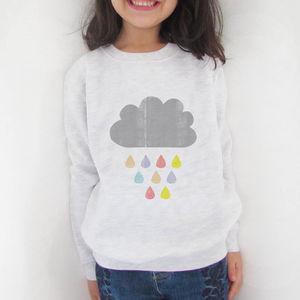 Rain Cloud Potato Print Sweatshirt