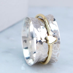 Amour Heart Spinning Ring - jewellery sale