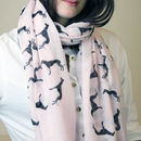 Personalised Greyhound Print Scarf For Dog Lovers