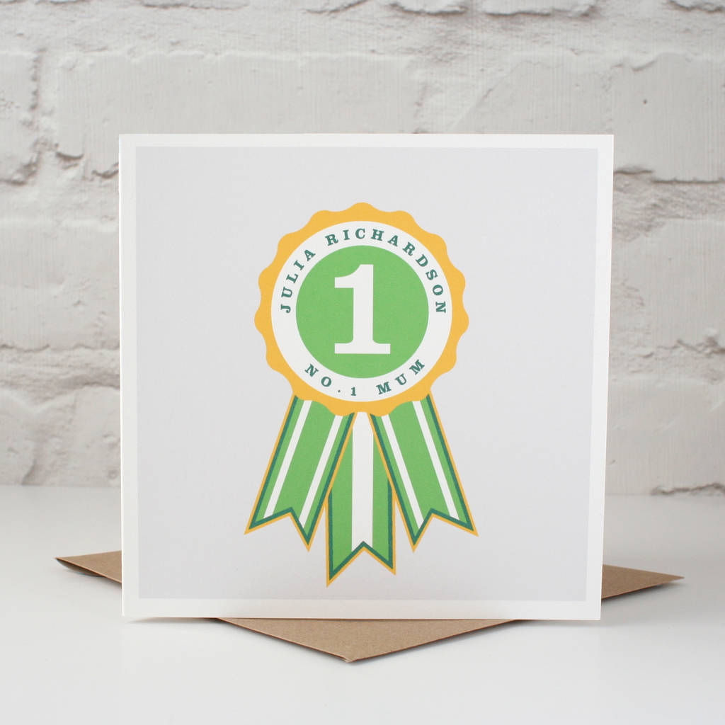 'Number One Mum' Personalised Card