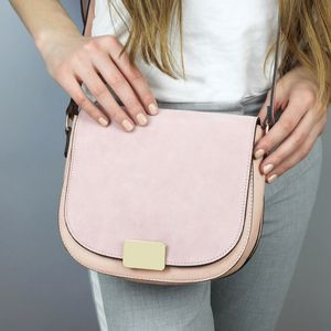 Brushed Suede Cross Body Handbag - womens