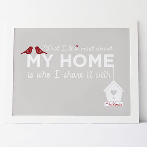 'What I Love Most About My Home' Family Print - family & home
