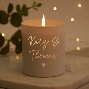 Engagement Gift Personalised Candle - room decorations