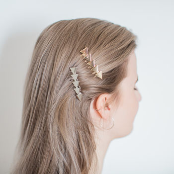 Gold Or Silver Star Hair Slide