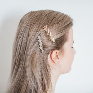 Gold Or Silver Star Hair Slide - hair accessories