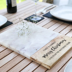 Personalised 'Christmas' Marble Serving Board - chopping boards