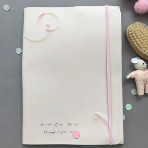 Undercover Leather Personalised Baby Memories Folder - stationery