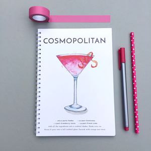 Cosmopolitan Watercolour Cocktail Notebook
