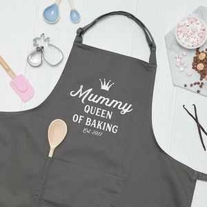 Personalised Queen Of Baking Kitchen Apron