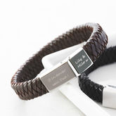 Men's Engraved Message Bracelet - anniversary gifts