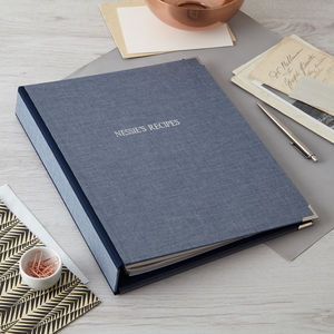 Personalised Recipe File - desk accessories