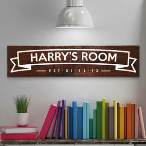 Personalised Children S Room Name Sign