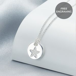 Personalised Angel Of Mine Star Necklace