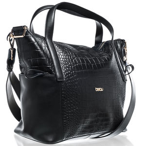 Sophia Croc Changing Bag, Black