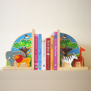 Fair Trade Safari Bookend Set - home accessories