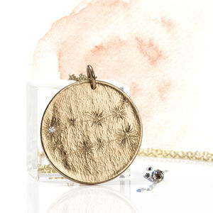 Gold Star Constellation With Single Stone - gemstone necklaces