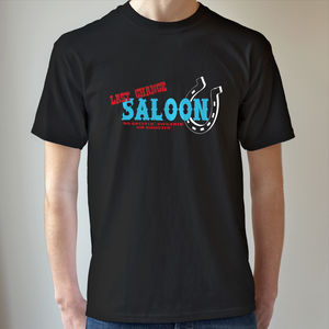 Last Chance Saloon T Shirt - men's fashion