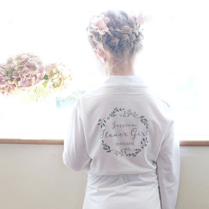Personalised Botanical Flower Girl Dressing Gown - children's nightwear