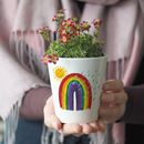 Rainbow Baby Personalised Plant Pot With Seeds