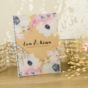 Floral Art Wedding Invitation
