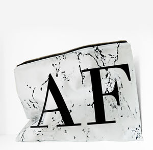 Personalised Marble Print Monogram Wash Bag