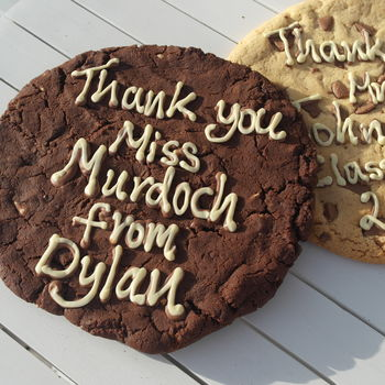 Personalised Giant Chocolate Cookie from Letterfest