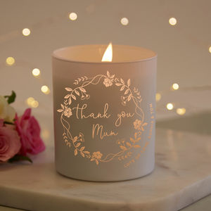 Mum Christmas Gift Candle - personalised gifts for mothers