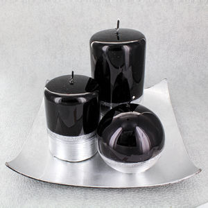 Black Silver Candles - view all new