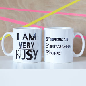 Personalised 'Very Busy' Mug - for sisters