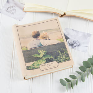 Vintage Photo Printed Album - 3rd anniversary: leather