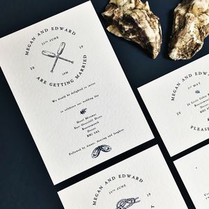 Nautical Coastal Wedding Invitation Set