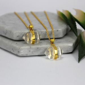 Kid's Crystal Quartz Nugget Necklace - for children